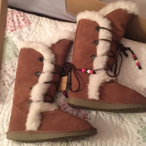 Ukala Penny High winter boots new size 8 chestnut NWT
